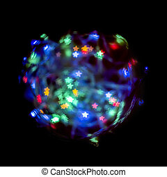Christmas  lights - Christmas defocused lights ball