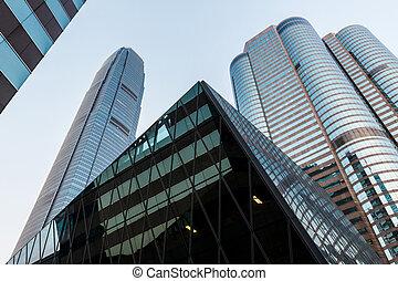 Hong Kong bussines center - Hong Kong, China – October 19,...