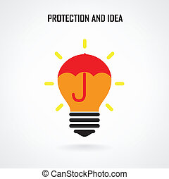 Creative brain Idea concept background design for poster...
