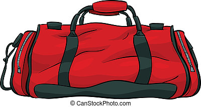 Gym Bag - A red, cartoon gym bag.