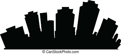 Cartoon Halifax - Cartoon skyline silhouette of the city of...