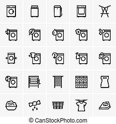 Laundry icons - Set of Laundry icons