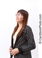 Asia businesswoman thinking