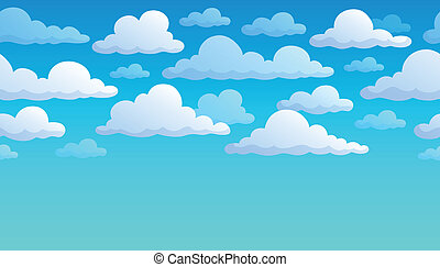 Cloudy sky background 7 - eps10 vector illustration