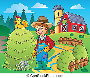 Farmer theme image 7 - eps10 vector illustration.