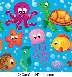Seamless background sea theme 2 - eps10 vector illustration