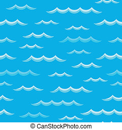 Waves theme seamless background 2 - eps10 vector...