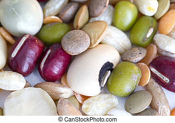 Mixed pulses on a white background