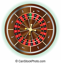 Roulette Wheel - A typical European roulette wheel without...