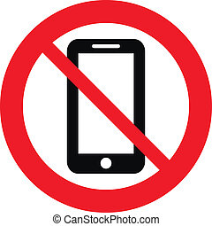 No phone vector sign on white background