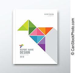 coloridos, pássaro, Origami, papel