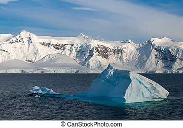 Paradise Bay Antarctica ocean and mountain view