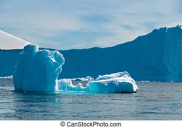 Paradise Bay Antarctica ocean iceberg and mountain view