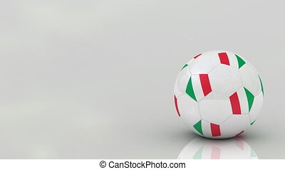 Italian soccer ball, seamless loop