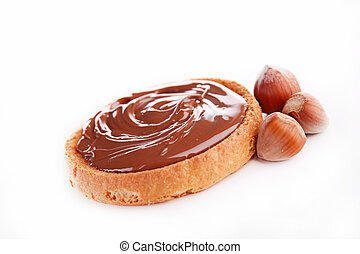 bread and chocolate spread
