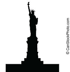 Statue Of Liberty - A silhouette of the Statue of Liberty...