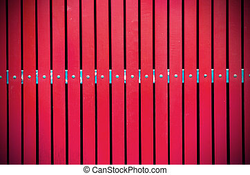 steel palisade - red steel palisade on white light