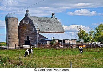 Deteriorating Farmstead - A deteriorating old barn is a...