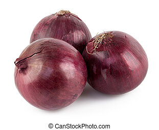 Purple onion isolated on white background