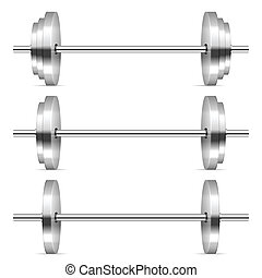 weights set - Dumbbells on a white background