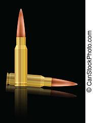bullets - Bullets on a black background Vector illustration...