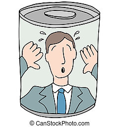 Canned Employee - An image of a canned employee.