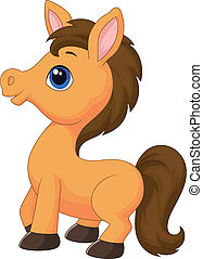 Cute horse cartoon - Vector illustration of Cute horse...