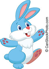 Happy rabbit cartoon - Vector illustration of Happy rabbit...