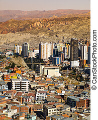 Modern centre of La Paz - La Paz - capital city of Bolivia...
