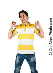 Young man in t-shirt and jeans - Young man with attitude...