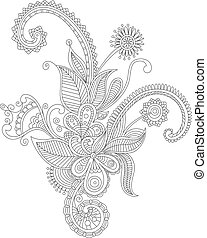 Abstract flourish background with decorative embellishments....