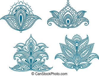 Abstract persian floral embellishments