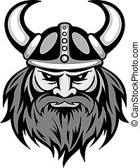 Ancient viking head for mascot Vector illustration