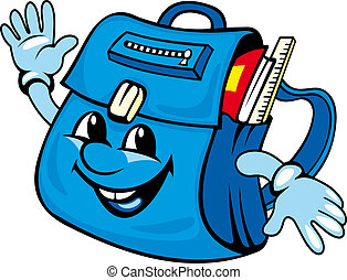 School satchel or bag for education design Vector...