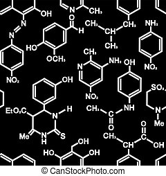 Chemistry seamless background