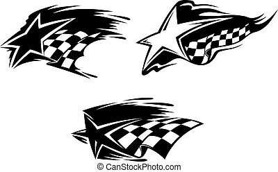 Racing symbols - Set of racing symbols for sports design...