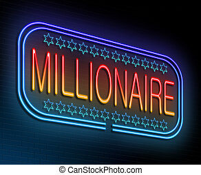 Millionaire concept - Illustration depicting an illuminated...