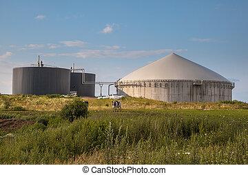 Biogas, planta, alemania