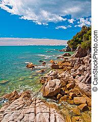 Rocky Coastline Totoranui - Rocky stretch of Coast in Abel...