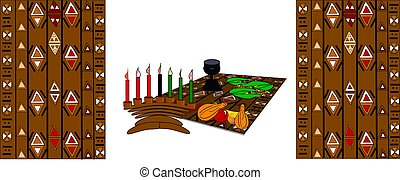 kwanzaa table - religious placement for kwanzaa