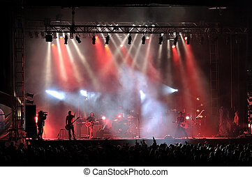 Rock concert live on stage outside
