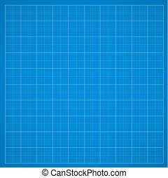 Blue grid paper or oscillograph screen, vector  background