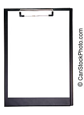 Clipboard with empty note isolated over a white background