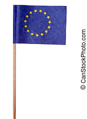 European flag over a white background