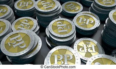 P2P Bitcoin Loop - Seamless loop of stacks of bitcoins.
