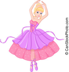 Ballerina - Beautiful princess dances ballet