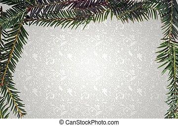 fir twig frame