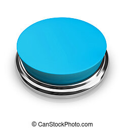 Put Your Text on Blank Button - A blue button with an empty...