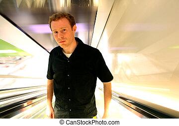 Apprehensive Modern Man - Man in 20s looking apprehensive,...