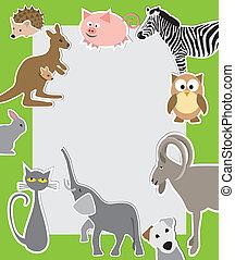 cartoon style animals